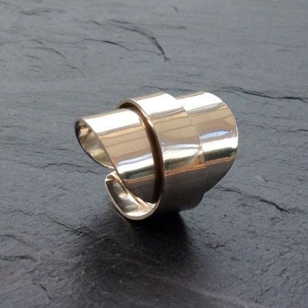 Silver wrap around ring