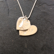 2 Hearts Fingerprint Necklace