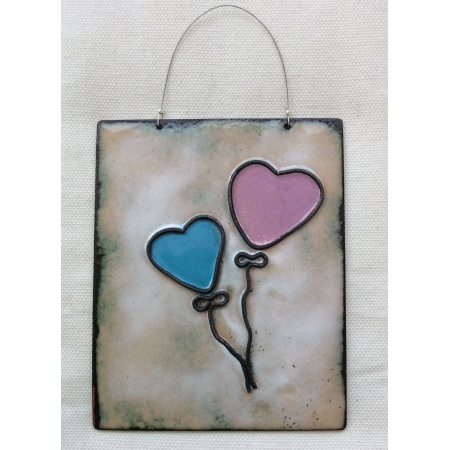 Blue + Pink Heart balloons