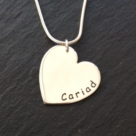 Cariad Welsh heart necklace