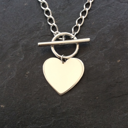 Heart Toggle Necklace - Large