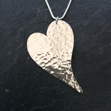Irregular heart necklace - large