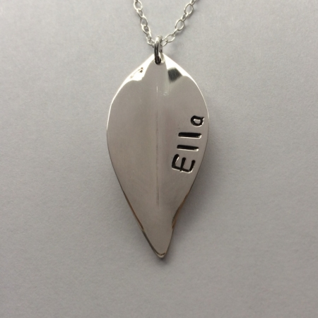 Personalised leaf necklace