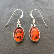 Amber dangle earrings - medium