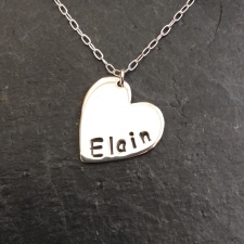 Personalised tiny silver heart necklace
