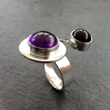 Double Amethyst ring