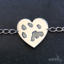 Double sided paw print bracelet
