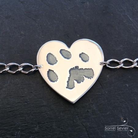 Double sided paw print bracelet