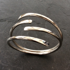 Planished four ended bracelet