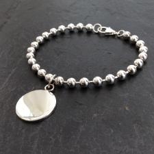 Chunky disc charm bracelet