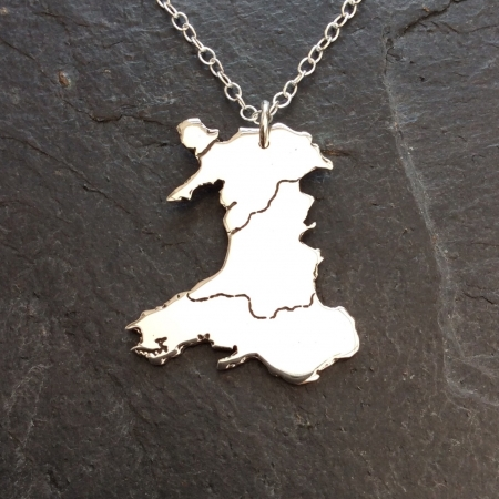 Map of Wales Necklace