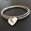 Fingerprint heart stacking bracelet
