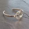 Polished two shapes bangle