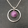 Phosphosiderite in a circle necklace
