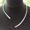 Solid silver necklet