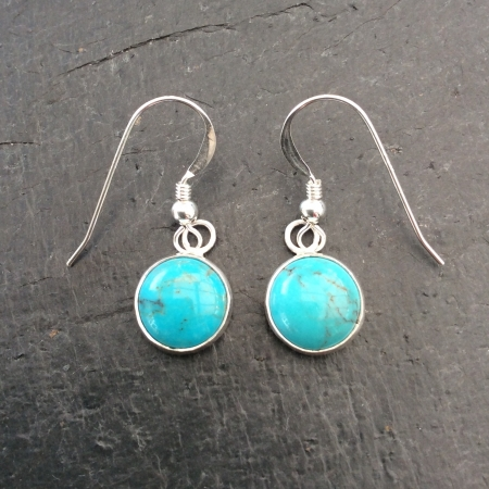 Chinese turquoise dangle earrings