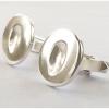 Silver Fingerprint Cufflinks - round
