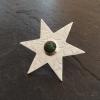 Nephrite Jade Star Brooch