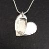Single Heart Fingerprint Necklace - medium