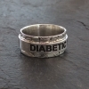 Diabetic T2 Health warining spinning ring