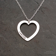 Cariad outline heart neckace