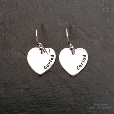 Cariad heart dangle earrings