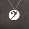 Bass Clef Disc Necklace