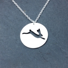 Hare in a circle necklace
