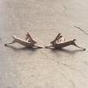 Running hare earrings