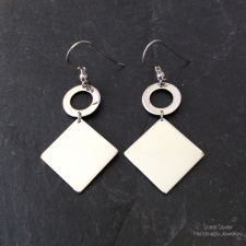 Squares + Circles Dangle Earrings