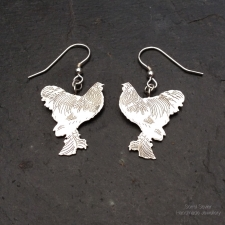 Brahma Chicken Dangle Earrings