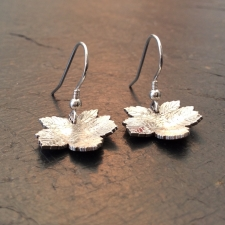 Sycamore Leaf Dangle Earrings