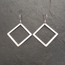 Outline Square Dangle Earrings