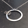 Bee on a Circle Necklace