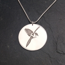 Magpie disc necklace