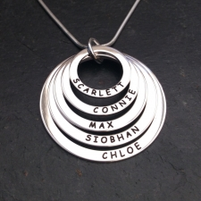 Personalised 5 rings necklace