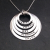 Personalised rings necklace