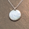 Green & White Speckled Disc Necklace