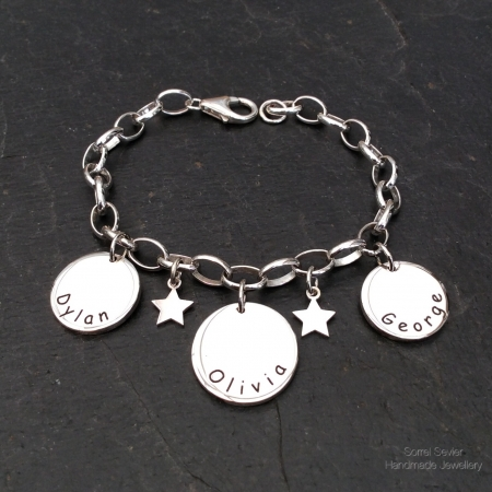 Name discs bracelet
