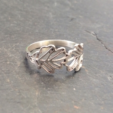Oak Leaves Filigree Ring
