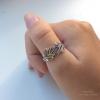 Oak Leaves Filigree Ring