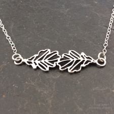 Oak Leaves Filigree Necklace