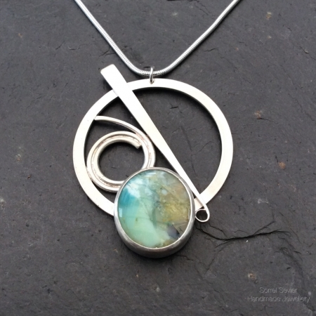 Opalised Wood pendant