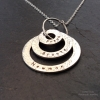 Chunky 3 rings personalised necklace
