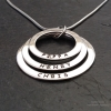 Personalised 3 Rings Necklace