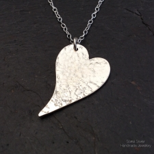 Irregular heart necklace - small