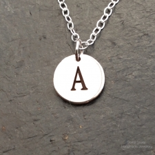 Letter Disc Necklace