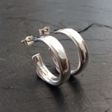 Solid Silver Hoops
