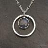 Labradorite in a circle pendant