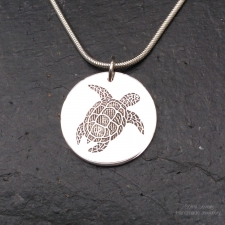 Turtle Disc Necklace